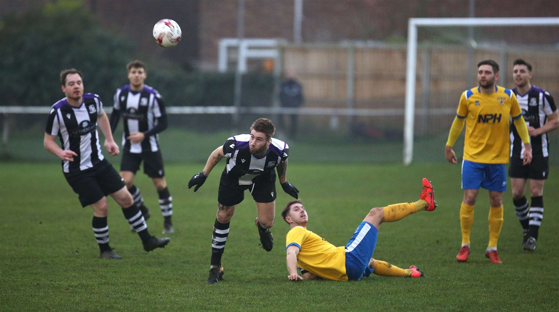 Long Melford v Newmarket Town - Melfords Jamie Griffiths.Pic - Richard Marsham/RMG Photography. (25362609)