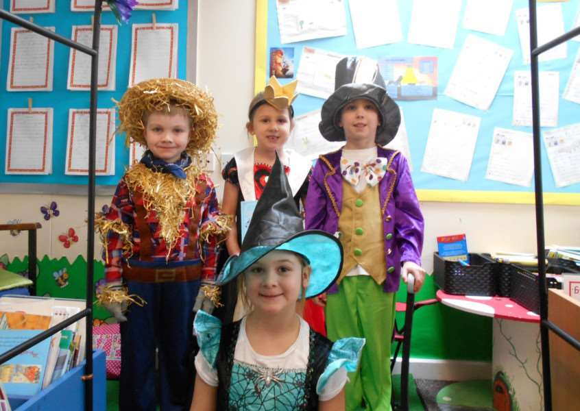 Pupils dress up as their favourite characters at Woodhall Community Primary School for World Book Day.