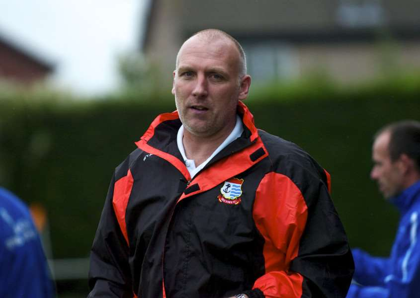 NEW CHALLENGE: New Cornard United manager Chris Tracey, pictured during his last spell in the Thurlow Nunn League, as Diss Town's boss
