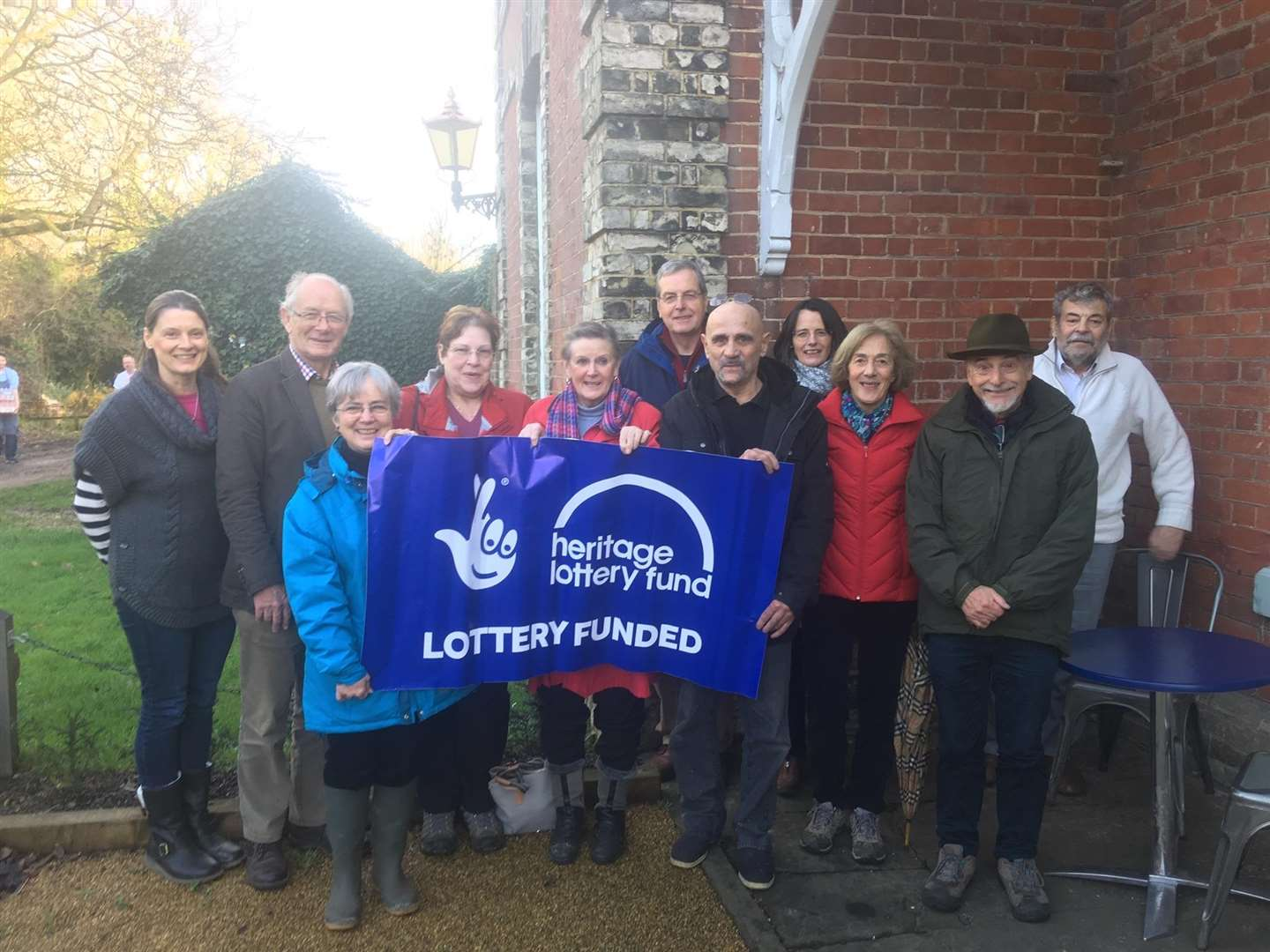 Supporters of the Heritage Lottery Fund project at Clare Castle Country Park are treated to a thank you event (6057484)