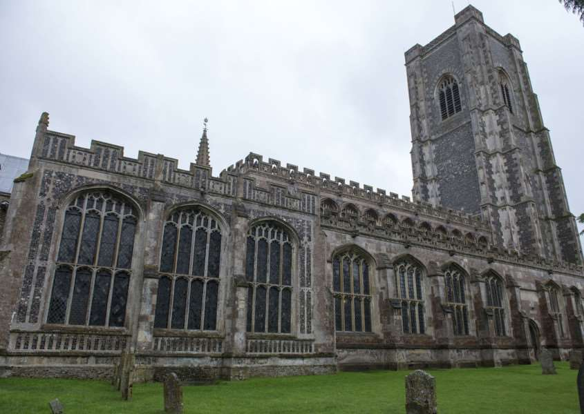 Lavenham Church St Peter and St Paul, had lead stolen from the north roof ANL-150826-115229009