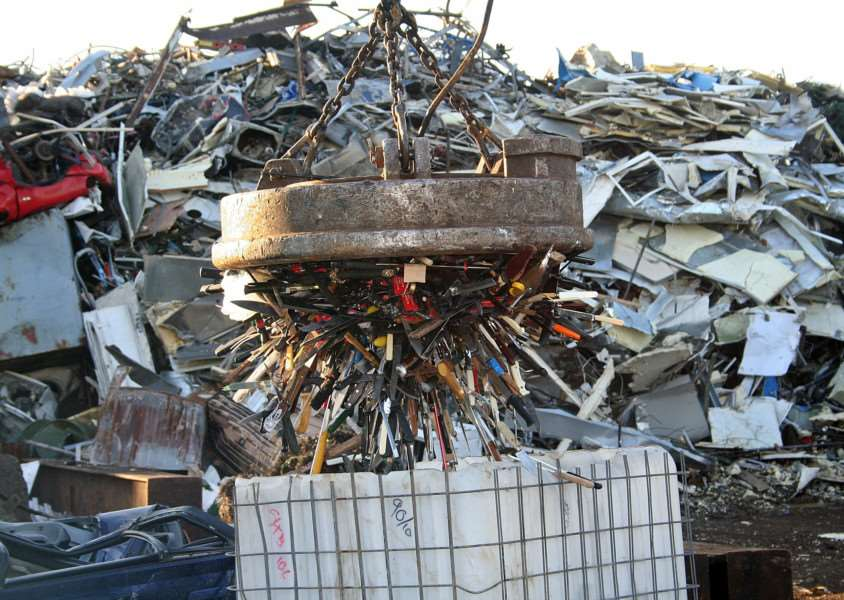 Knives are picked up to be shredded as part of Suffolk Police's Bin a Blade campaign