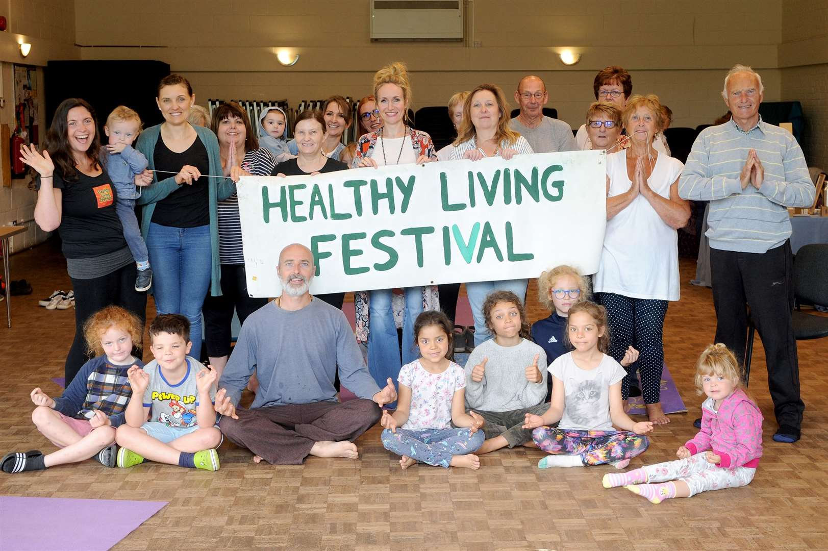 The Healthy Living Festival in Kedington also acted as the launch of a new initiative called This Community Can, which focuses on wellbeing and includes a 12 week yoga course. Picture by Mecha Morton.