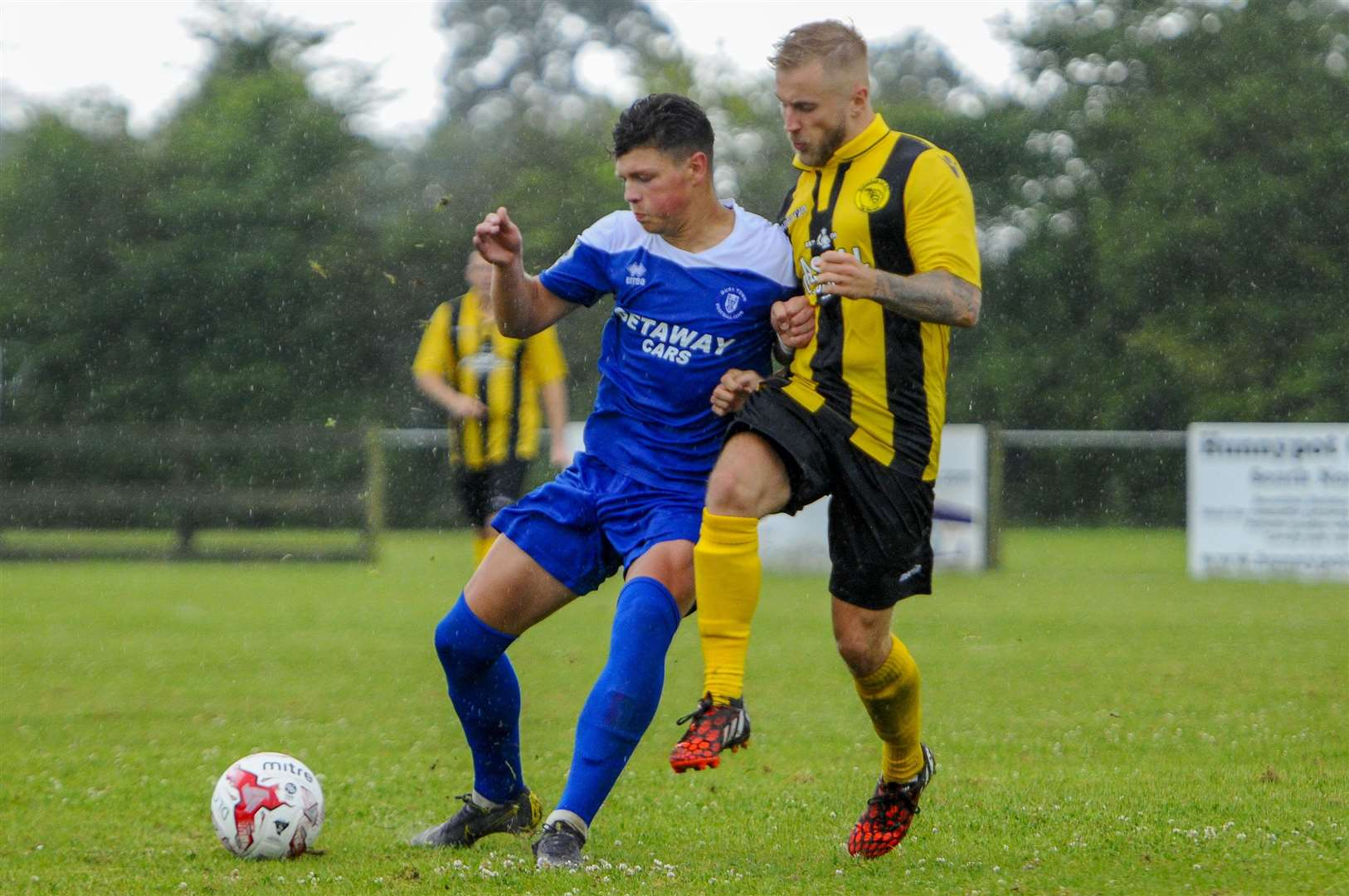 Ross Crane in action for Bury Town at Debenham LC Picture: Mark Bullimore
