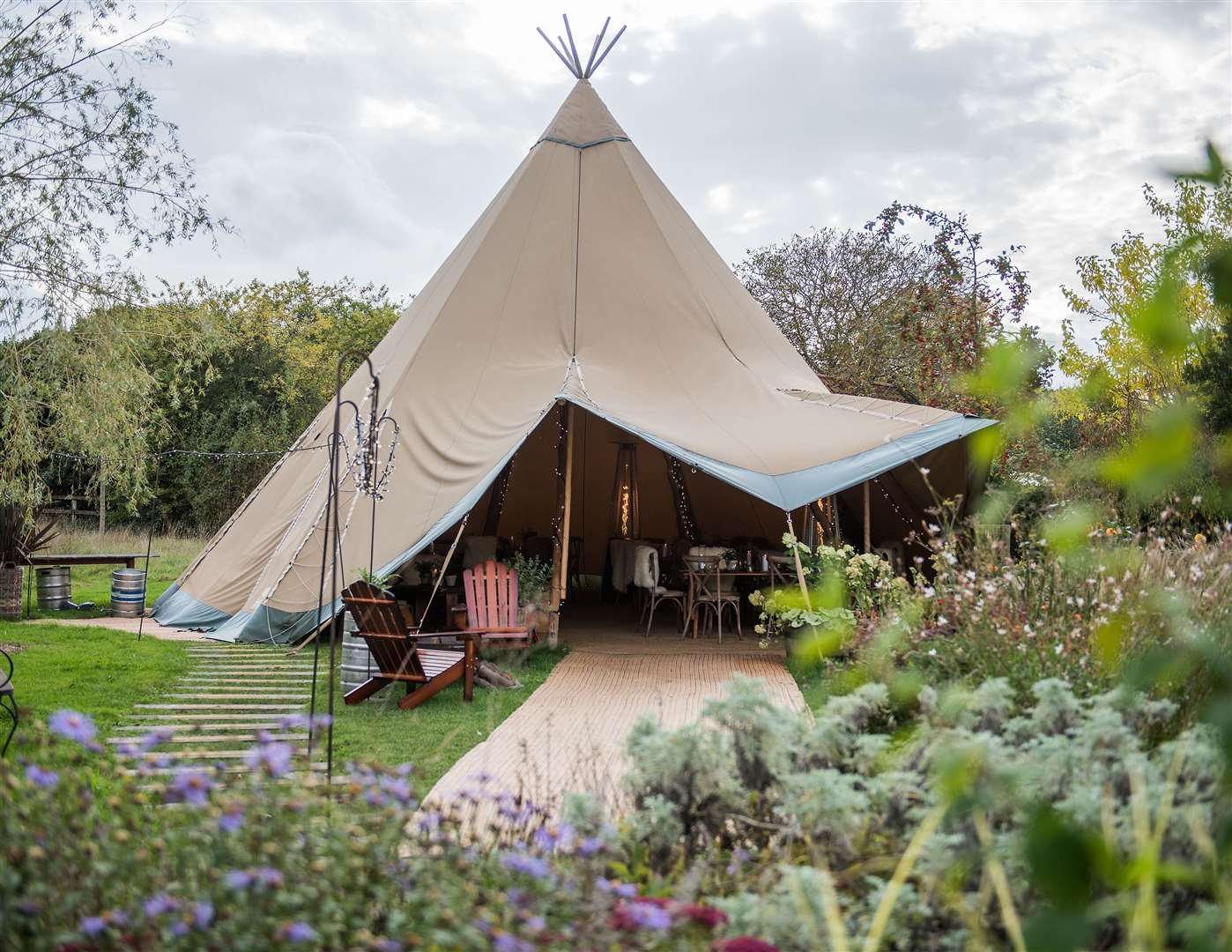 The tipis have now been installed in other pubs