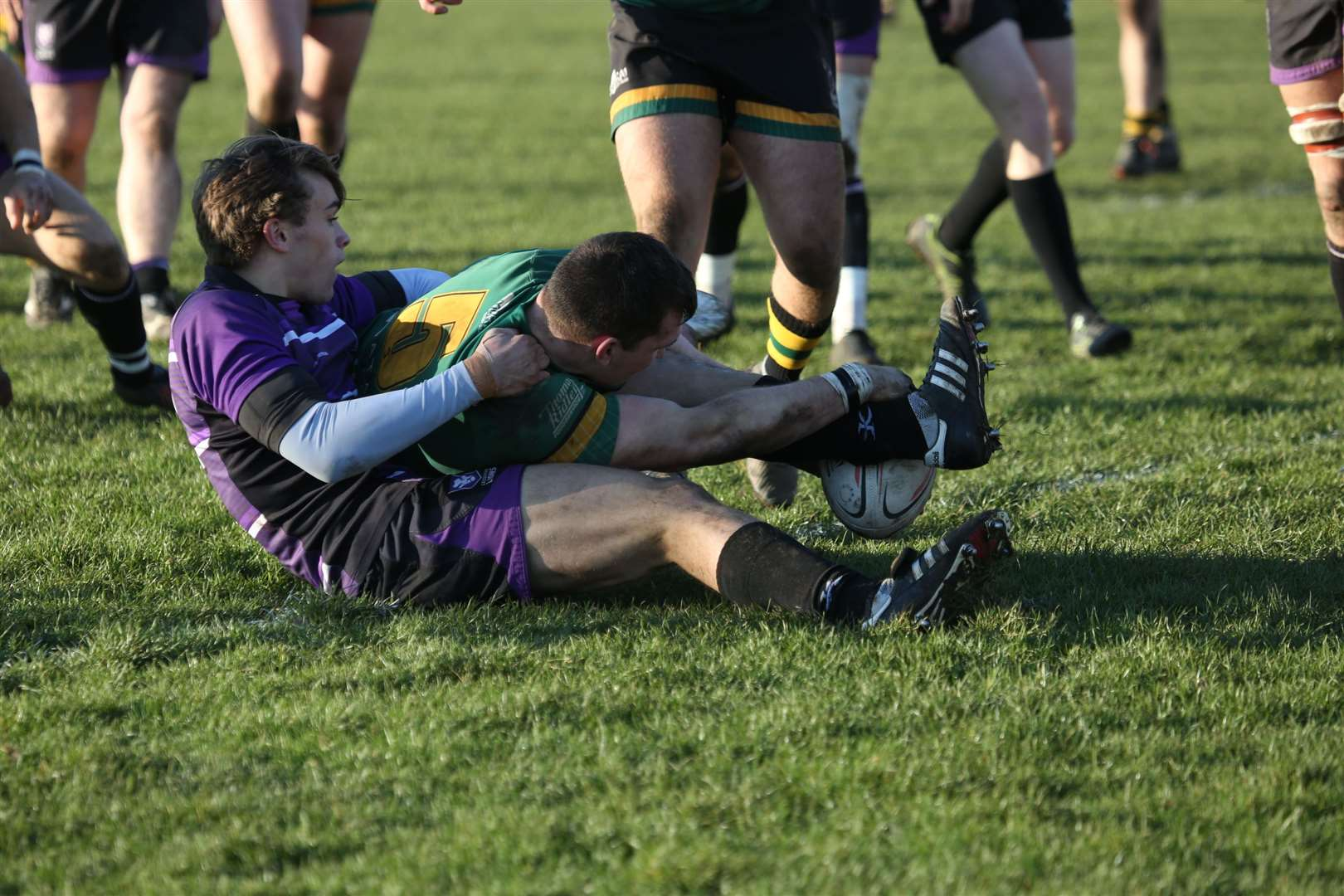 Bury St Edmunds rugby v Leicester Lions - Tanner Lightfoot runs in a tryPicture: Shawn Pearce(28835913)