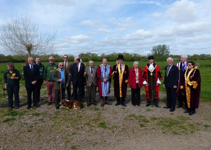 Friday's ceremony marked the return of cattle to Sudbury's water meadows. ANL-150505-111502001