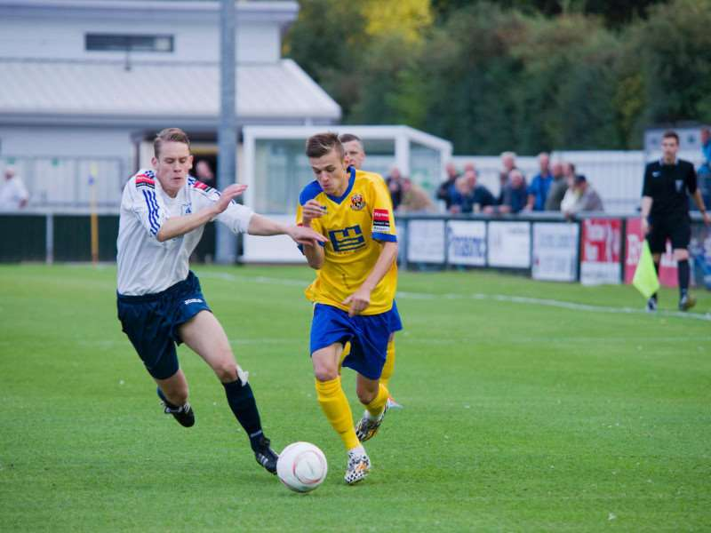 LOANED OUT: Jordan Blackwell will finish the season away from The Wardale Williams Stadium at Thurlow Nunn League Stanway Rovers Picture: Mark Westley