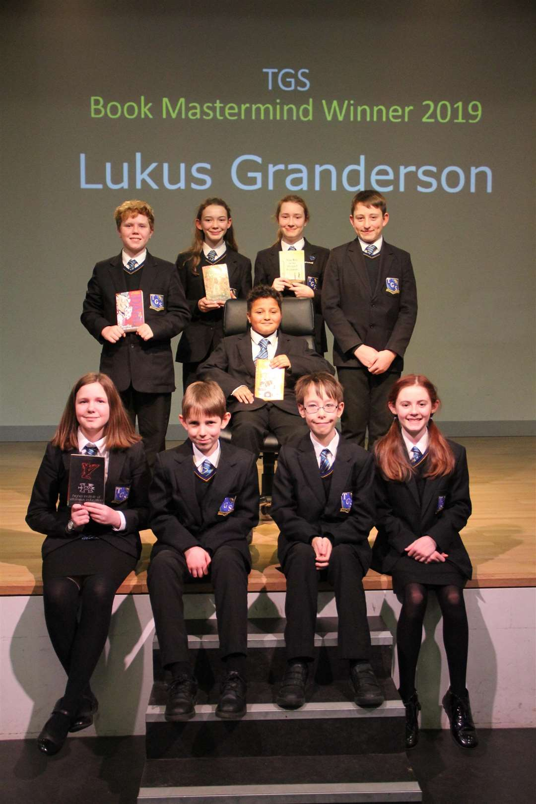 Lukus Granderson wins the Book Mastermind competition at Thomas Gainsborough School in Great Cornard. Photo credit: Marcelle Claxton. (6667489)