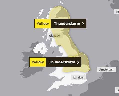 The Met Office has issued a yellow weather warning across East Anglia. (13683169)
