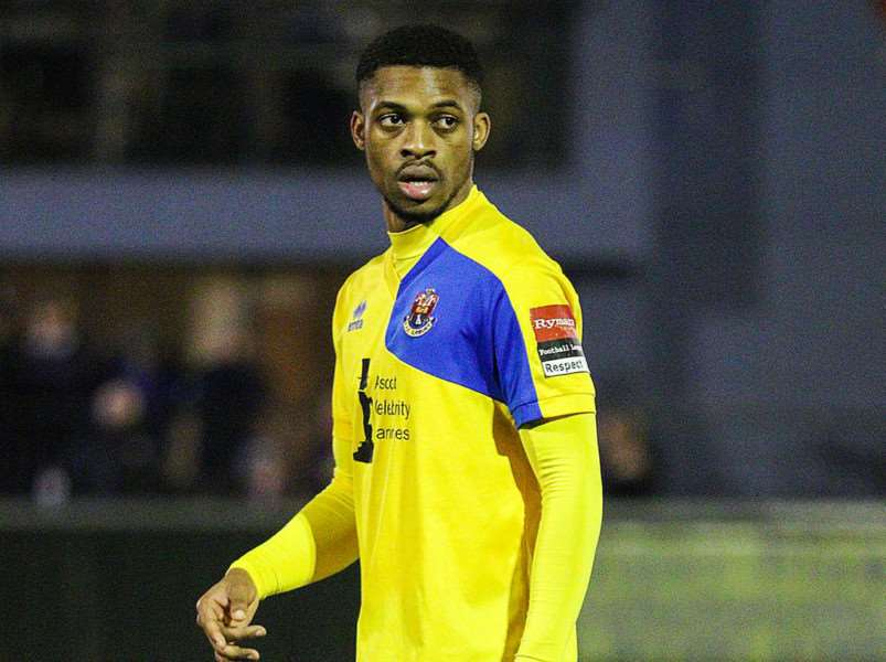 MOVING ON UP: Kieran Monlouis has opted to leave AFC Sudbury after making just eight appearances, having now signed for National League St Albans Picture: Clive Pearson