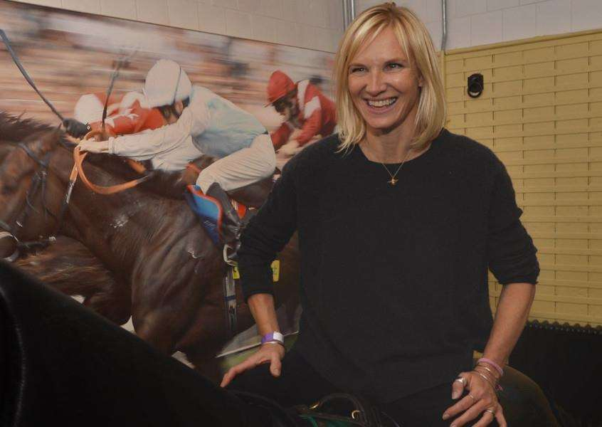Jo Whiley, who presented the award, pictured during a visit to Newmarket last month