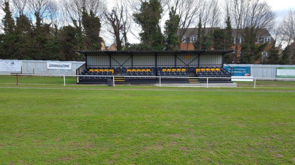 GROUND IMPROVEMENTS: Mildenhall Town's new stand. PICTURE: Steve Curtis