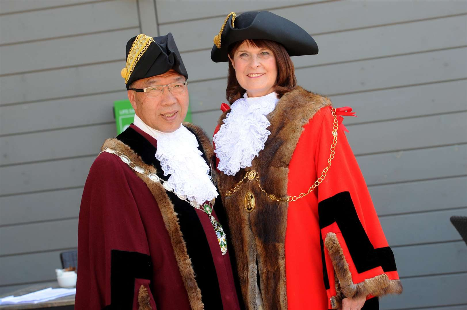 A working group will review the future of civic leadership in West Suffolk. Pictured are St Edmundsbury's current deputy mayor Patrick Chung and mayor Margaret Marks. PICTURE: Mecha Morton.