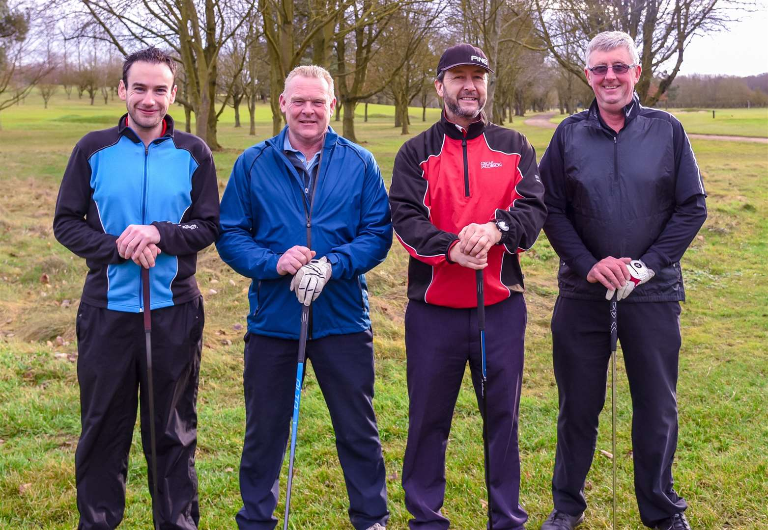 Adam Hooper-Greenhill, Carl Brinkley, Andrew Thurlbourn & Aubrey Nice at Bury GC third round of the Winter Goblets - photo Chris Boughton (6570309)
