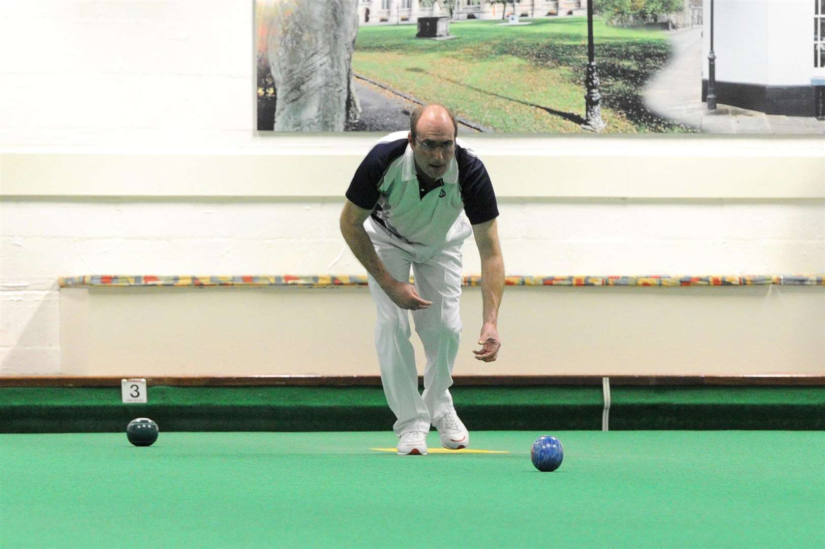 BOWLS: Risbygate Bowls Club Masters tournament..Pictured: Mark Royal (Stowmarket)...PICTURE: Mecha Morton. (6566239)