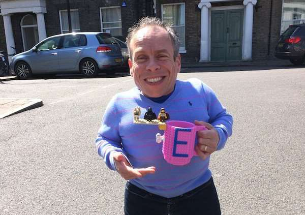 Warwick Davis was in Bury St Edmunds today filming for a 'top secret' project. Photo courtesy of St Edmundsbury Cathedral ANL-160505-161307001