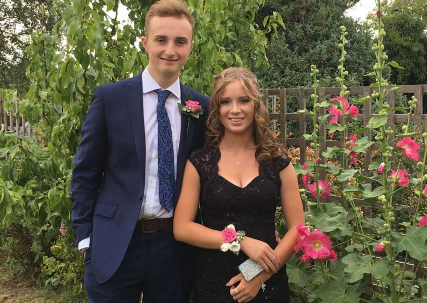 Hadleigh High School Prom 2017. James Wise and Lily Stock.