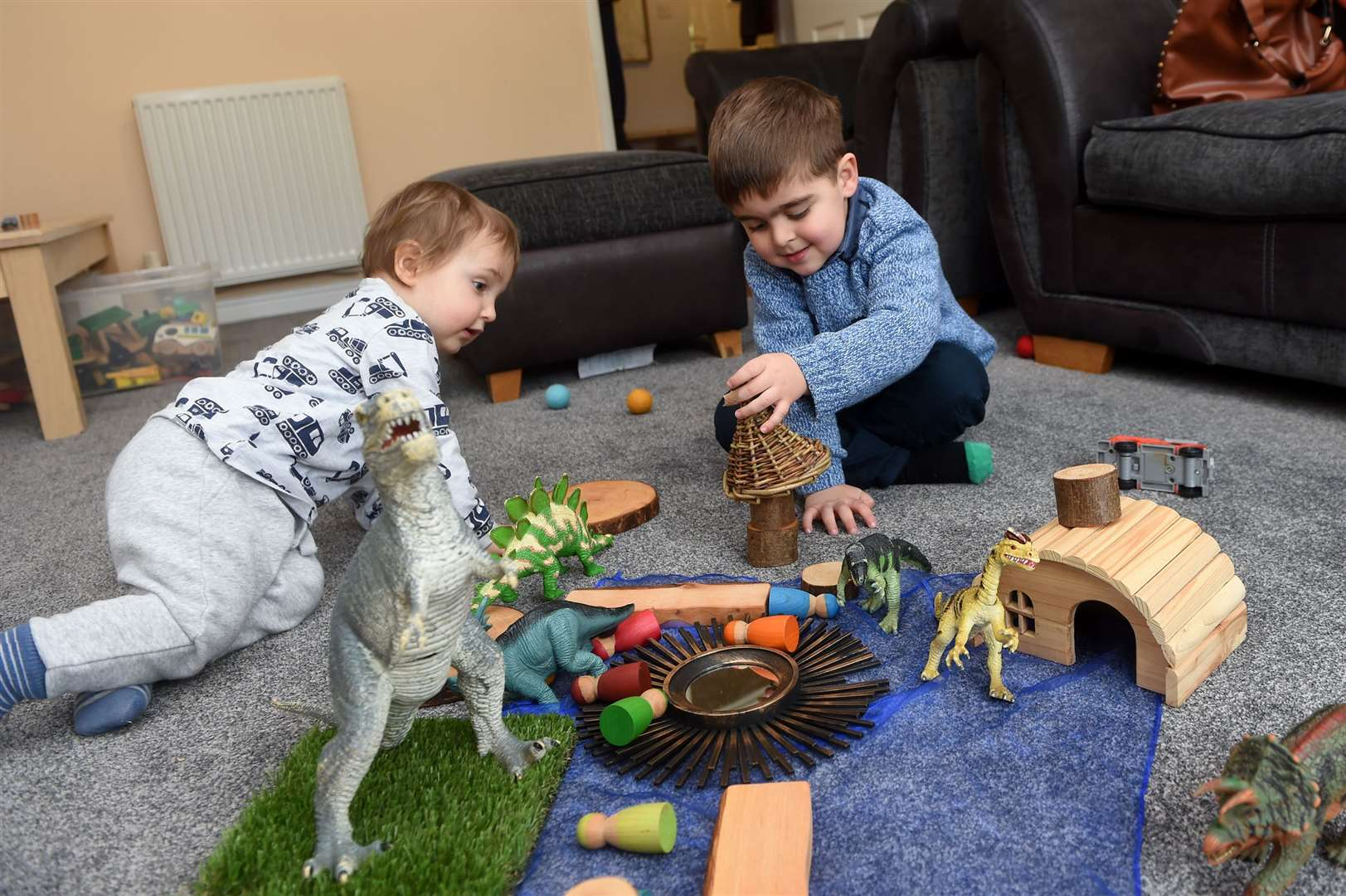FEATURE - Claire Wilson is Suffolk's first 'Curiosity Approach' childminder, using no plastic or electronic devices.....PICTURE: Mecha Morton .... (30601604)