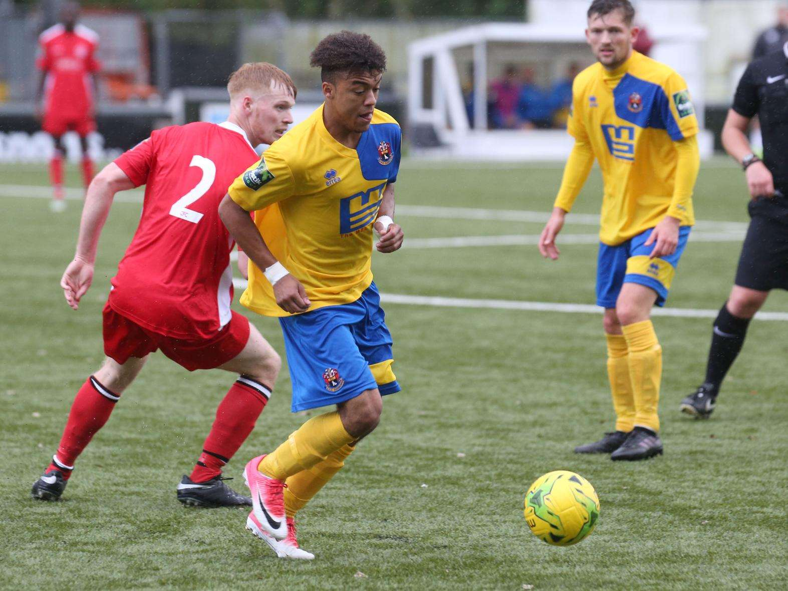 Tevan Allen was among the scorers for AFC Sudbury at home to Chipstead in the FA Cup Picture: Richard Marsham