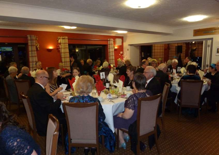 Haverhill & District Twin Towns Association members at its annual dinner and dance at Haverhill Golf Club. ANL-160612-115035001
