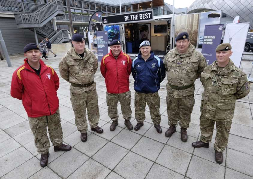 Army recruitment drive at the Arc Shopping centre in Bury St Edmunds. ''Picture: MARK BULLIMORE ANL-160917-220305009