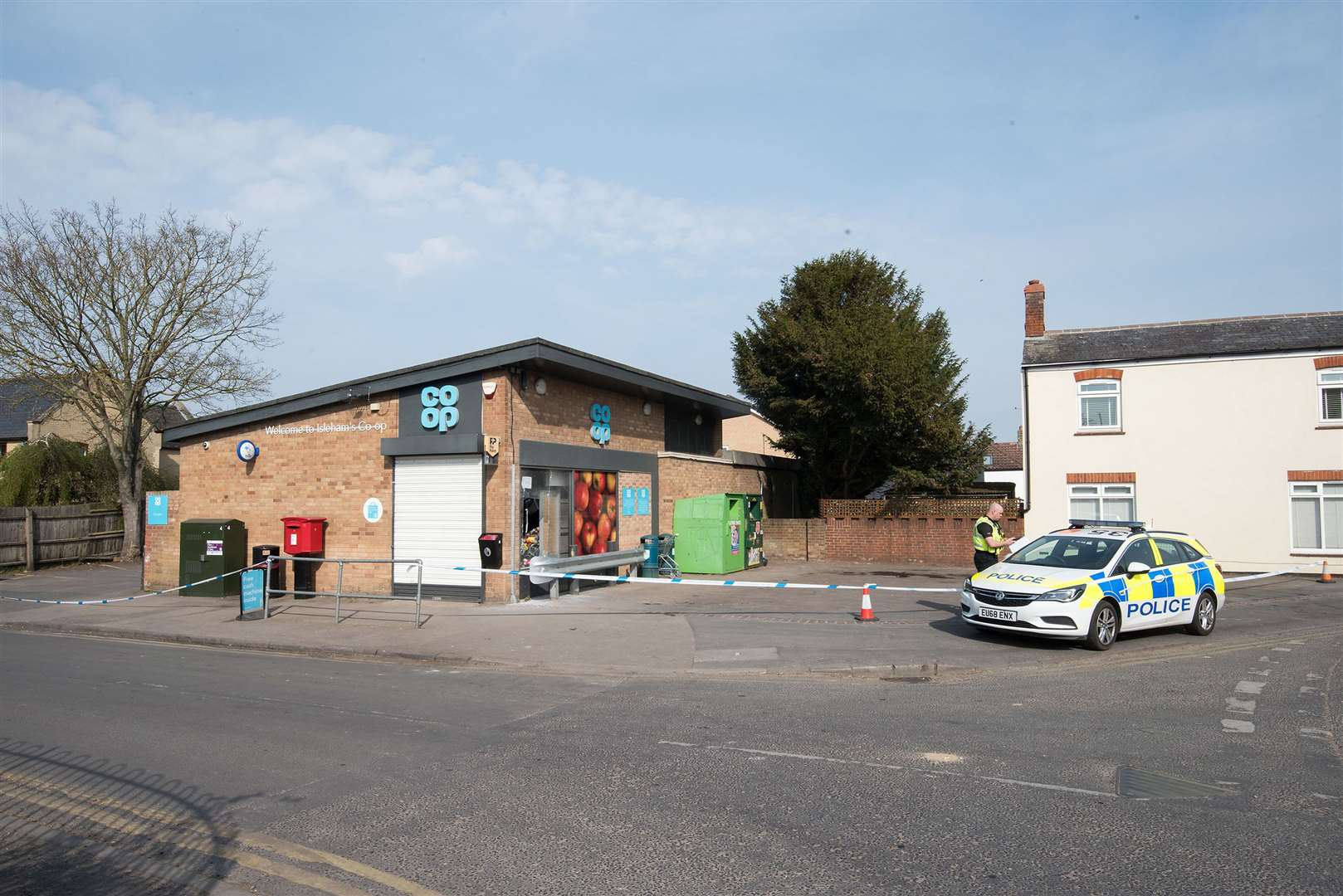 Isleham Coop smashed window robbery on Thursday night Friday morning. Picture by Mark Westley. (33312879)