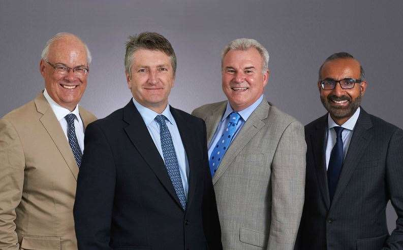 Ellisons and Gross & Co merger. From left, Graeme Kirk, Guy Longhurst,John Turner and Sohan Sidhu (14437671)