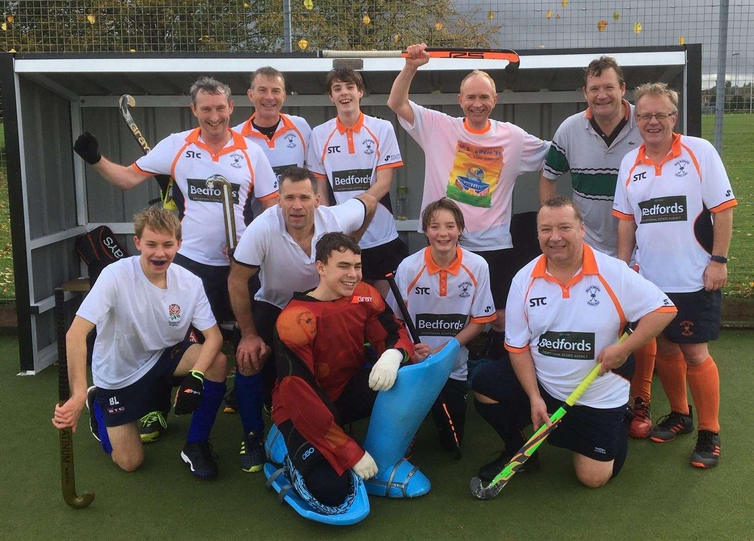 Bury St Edmunds Hockey Club's Men's VIIs who got their first victory in the East League at the 45th attempt on Saturday (20826739)