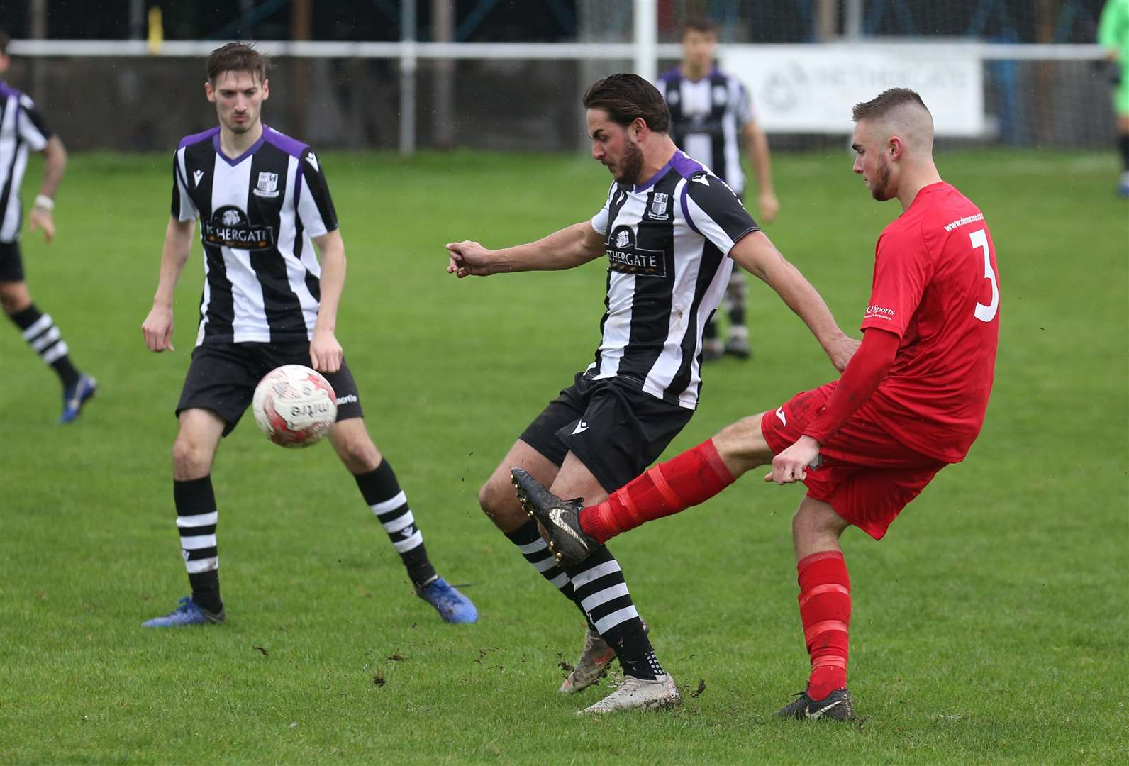 Nathan Rowe was on target for Long Melford last night	Picture: Richard Marsham