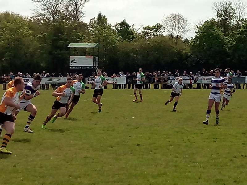 Bury Barbarians, made up of players from host club Bury St Edmunds as well as past players, in action in their second match in the Open competition - which they won 26-7 against Apache Braves Picture: Russell Claydon