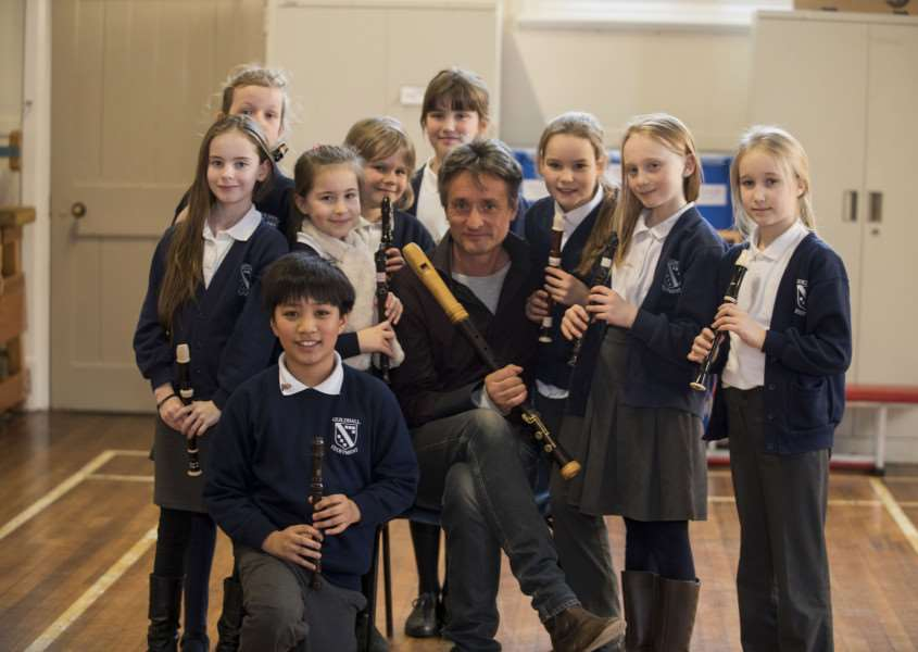 The school enjoyed an assembly and workshop with Piers Adams 'Picture Mark Westley