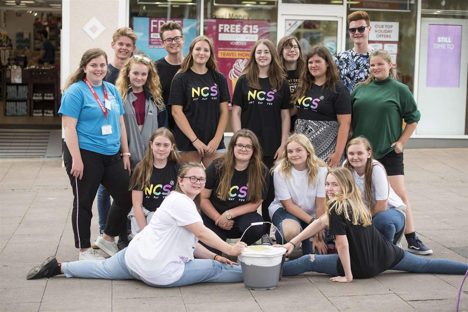 NCS group SevenSquared are holding a flash mob on Cornhill .Bury St Edmunds to raise money to renovate Cornwallis Court. Picture Mark Westley. (3597608)