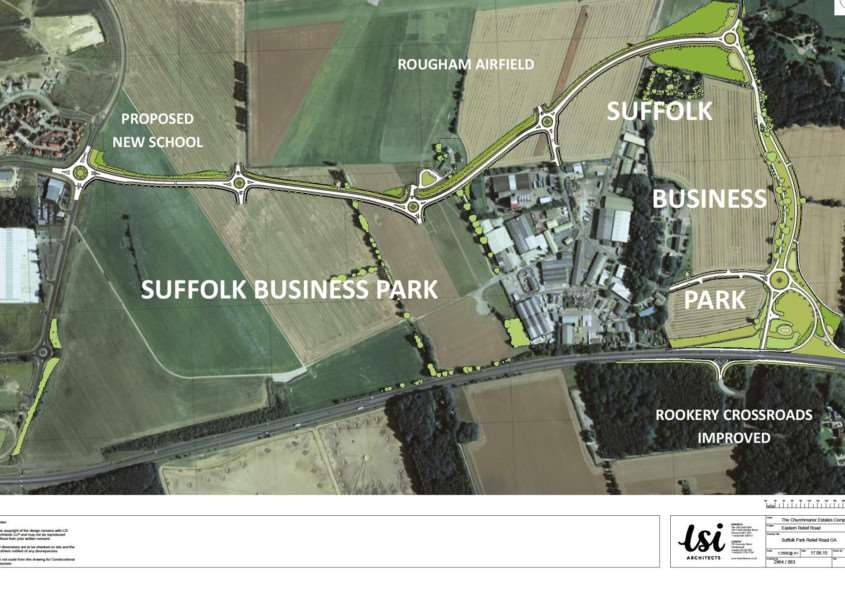 The plan for Suffolk Business Park ANL-150625-105422001