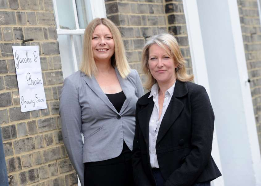 Jacobs & Brown in Hadleigh are opening a new estate agency on 2nd May. ''Pictured: Michelle Brown and Nicola Jacobs'''PICTURE: Mecha Morton