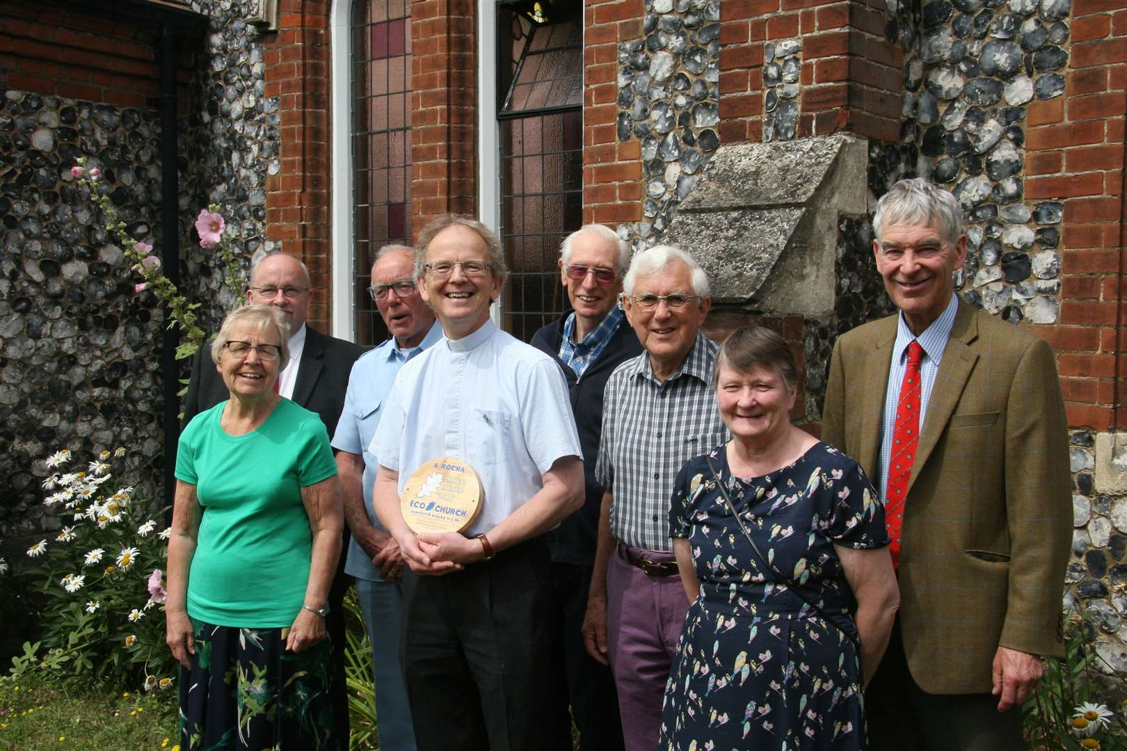 St John's Methodist Church in Sudbury celebrates receiving the Silver Eco Award from A Rocha UK. Contributed picture. (14526040)