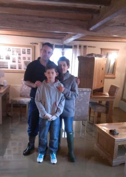 Ian Smith and Claire Gouge with Alfie, 12