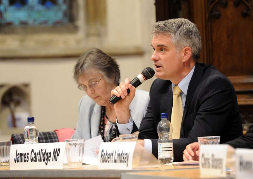 Suffolk Free Press EU referendum debate''Pictured: James Cartlidge MP ANL-160606-093136009