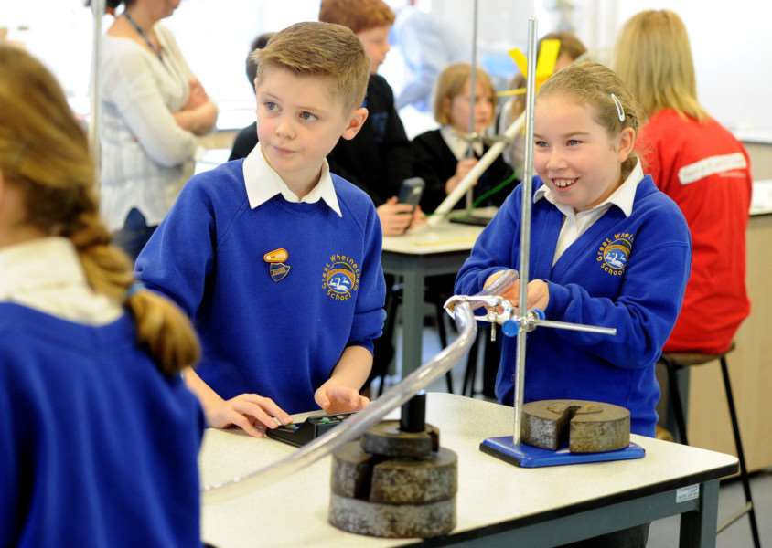 Science week at King Edward VI School''Pictured: Great Whelnetham Primary School''''PICTURE: Mecha Morton