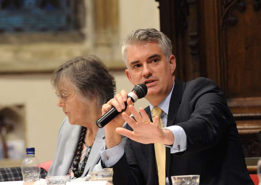 Suffolk Free Press EU referendum debate''Pictured: James Cartlidge MP ANL-160606-093223009