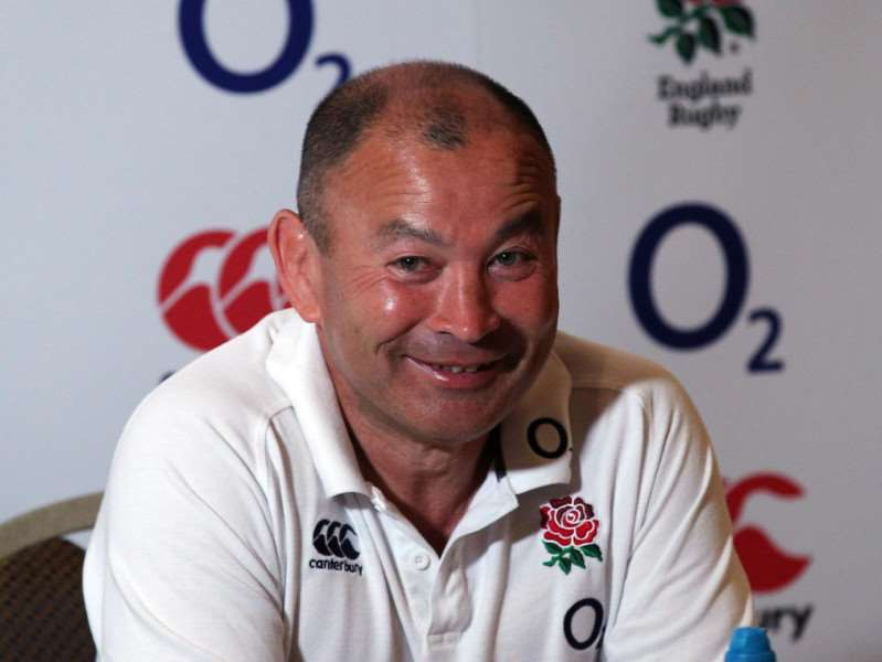 Sudbury Rugby Club's head coach Ben Scully worked alongside England coach Eddie Jones (pictured) and his defence coach Paul Gustard, who is coming to coach at the club on Tuesday. Picture: PA Wire
