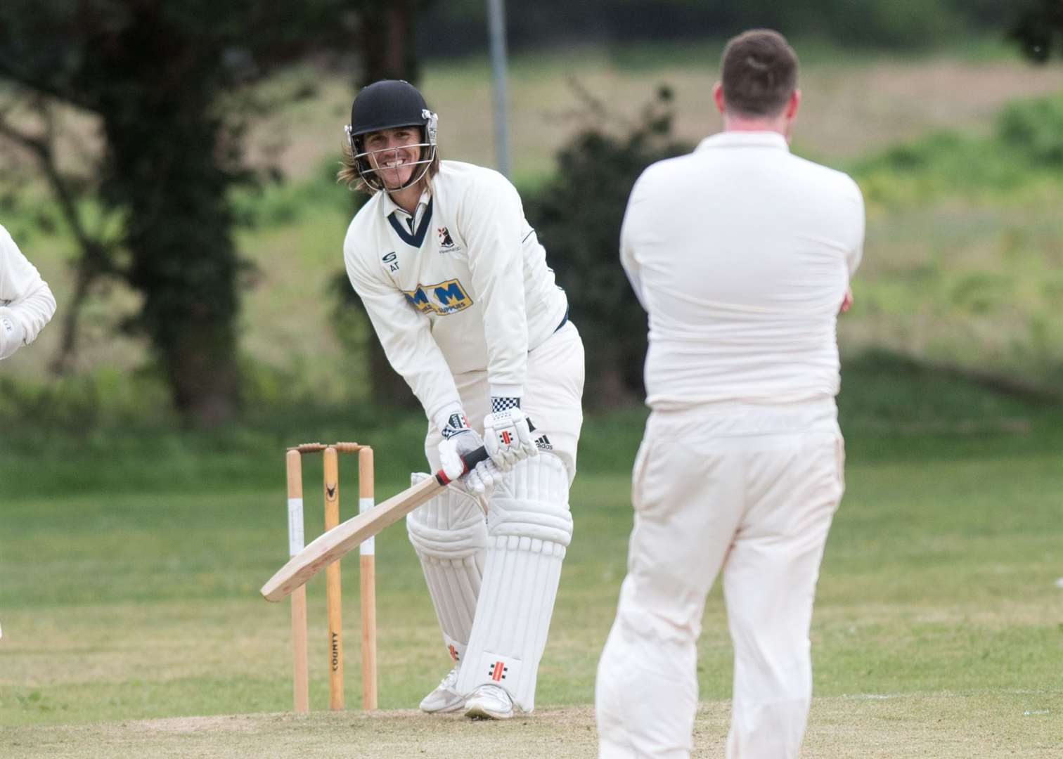Haverhill batsman Adam Dellar top-scored for the first team with a 71-run knock. Picture by Mark Westley.