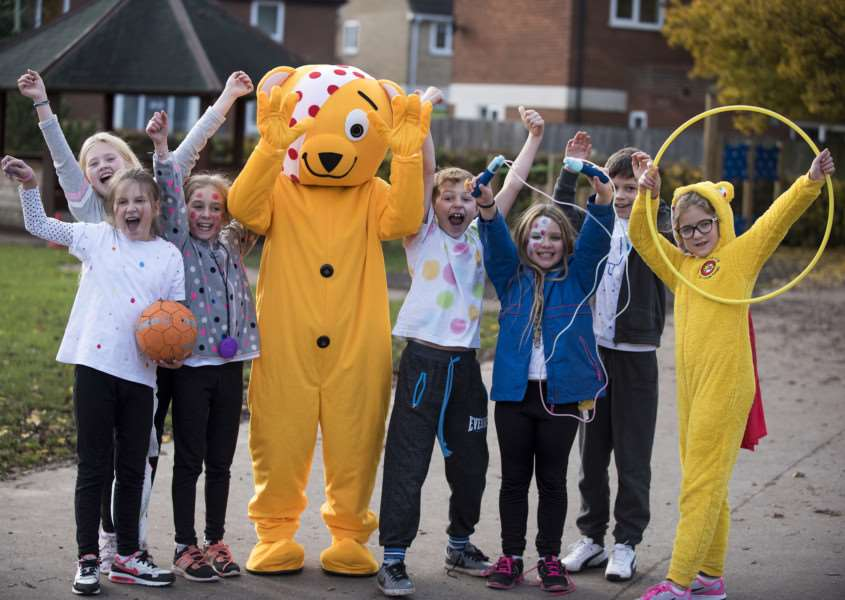 Pudsey s at Sebert Wood Primary Schools sporty fund-raiser ANL-161118-165441009