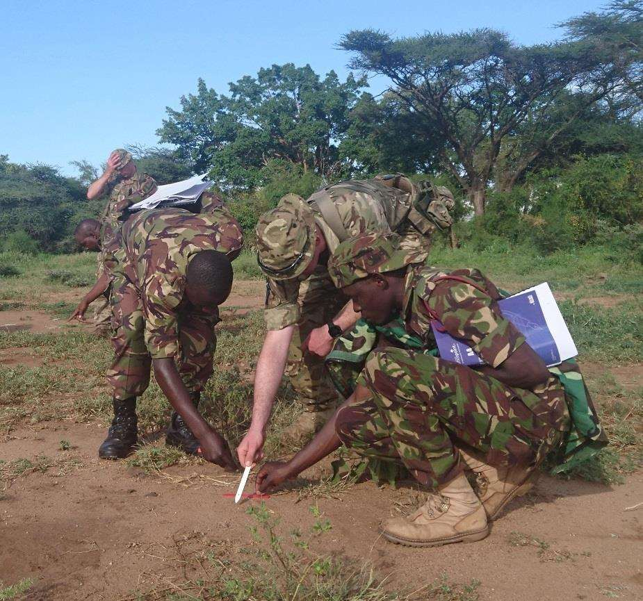 A team of Gunners from RAF Honington are delivering a training package to the Kenyan army (2284631)