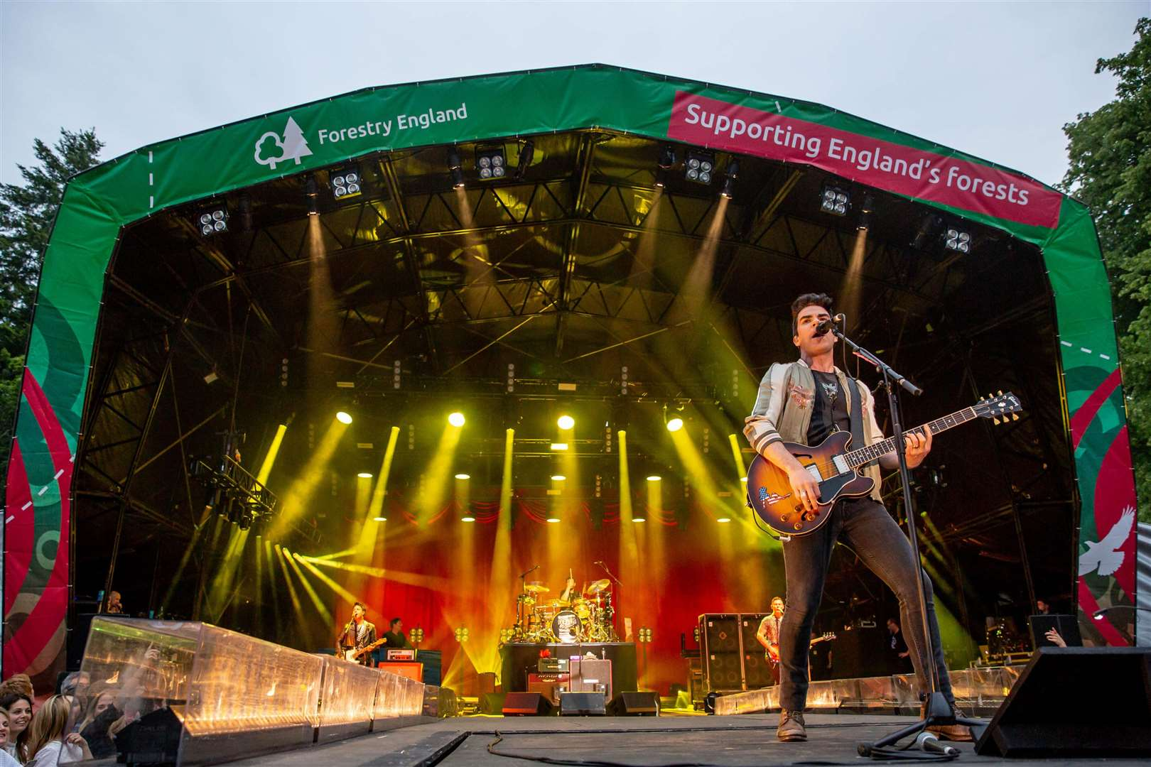 The Stereophonics play High Lodge for Forestry England's Forest Live concert series on Sunday Picture by Lee Blanchflower