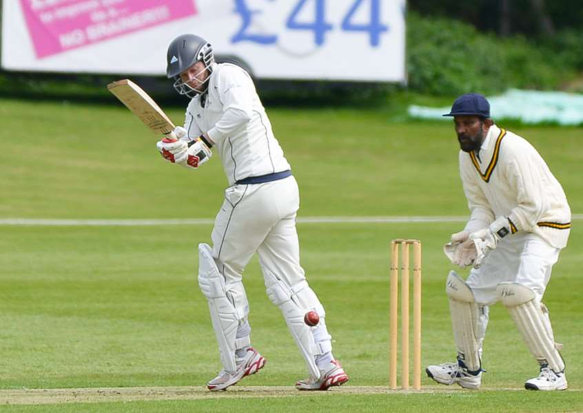 Haverhill batsman Dan Poole top scored with 42 in their seven wicket defeat at Easton