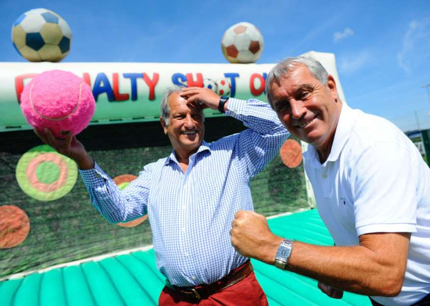 Former jockey Bob Champion and former footballer Peter Shilton (photos: Mark Bullimore)