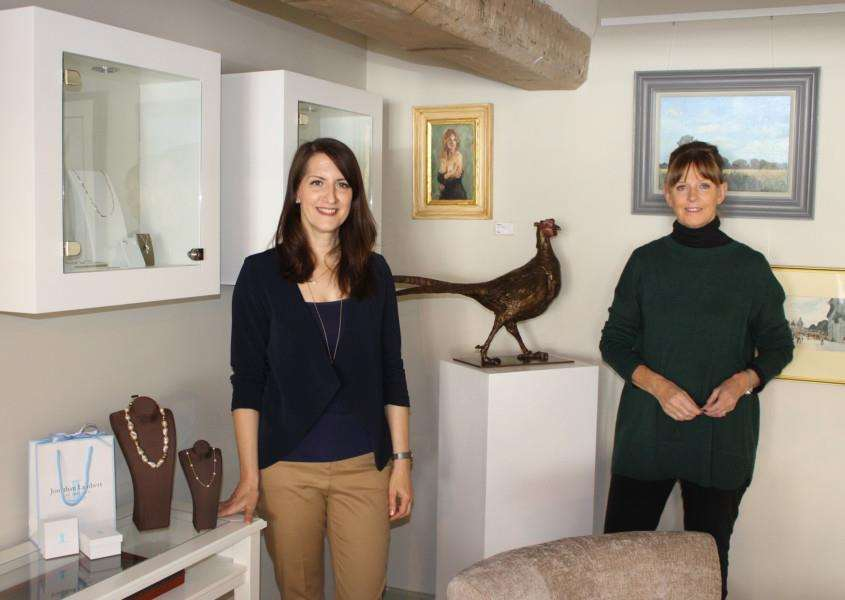 JOINT VENTURE: Yasmin Lambert and Kate Denton at the new shop and gallery in Lavenham.