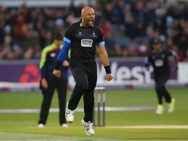 MIXED FEELINGS: Tymal Mills took a wicket on his IPL debut but ended up on the losing side. Picture: Sussex Cricket