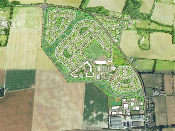 Kennett CLT's plans for the village - which have been deleted by the inspector (7356226)